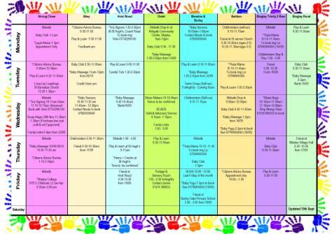 bingley trinity timetable