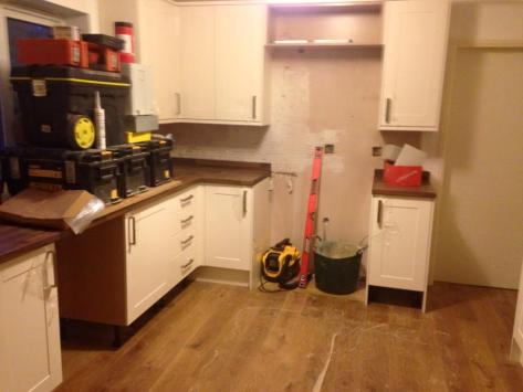 Day 2 of kitchen makeover