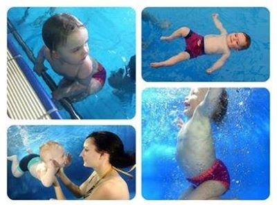 Baby Swimming with Water Babies