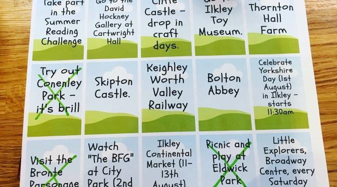 FREE Bingley Summer Holiday Activity Sheet