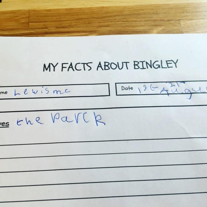 FREE Bingley History Activity